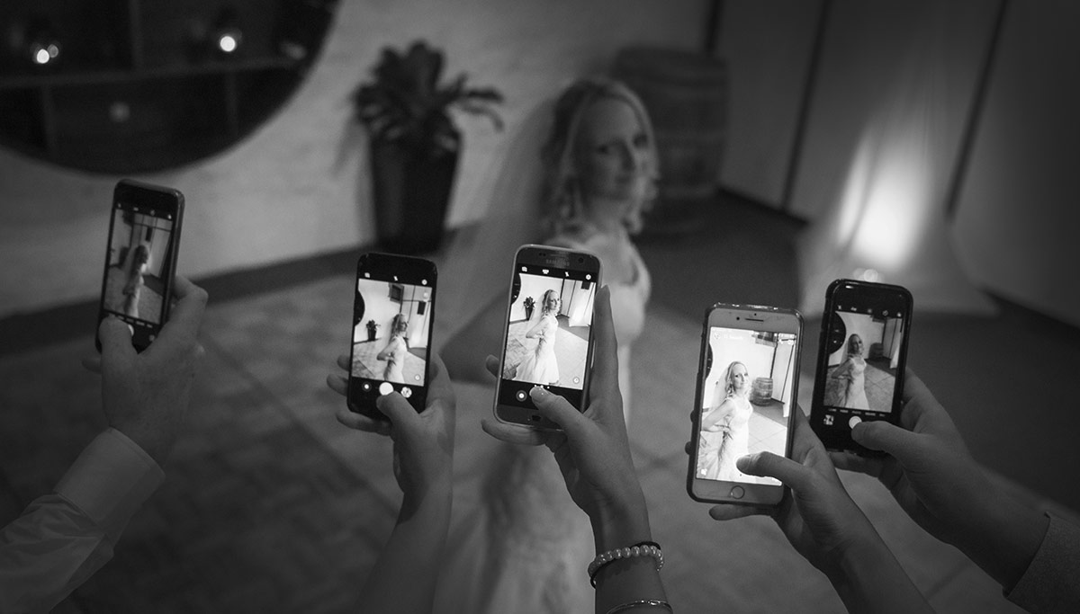 Mobile phone attraction