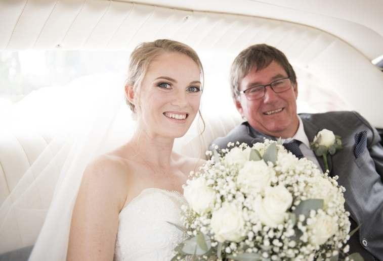 Arriving bride