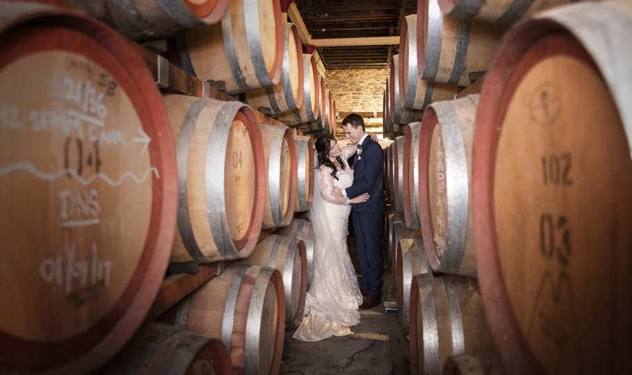 Together in the wine barrels
