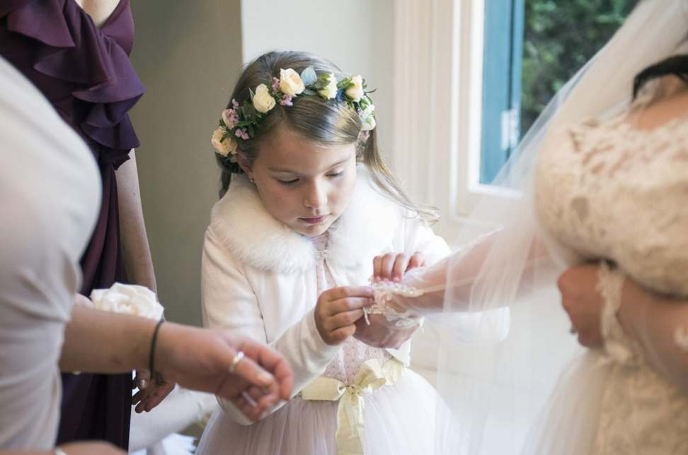Flower Girl helping out