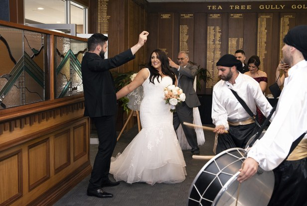Bridal entry at the Tea Tree Gully Golf COurse