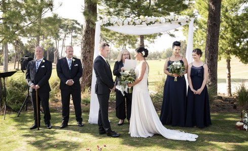 Glenelg Golf Course Wedding Ceremony