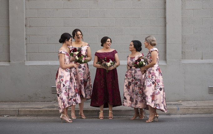 The bridal party