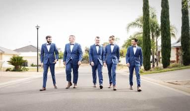 Boys walking down the road