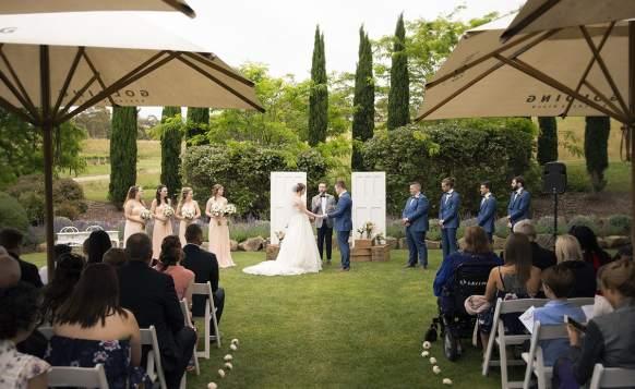 Golding Winery Wedding Ceremony