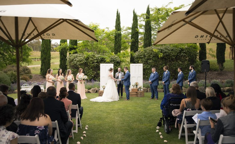Golding Winery Wedding Ceremony