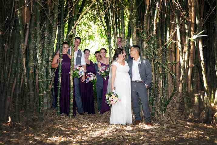 Under bamboo