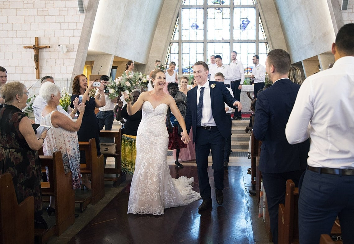 Dancing back down the aisle