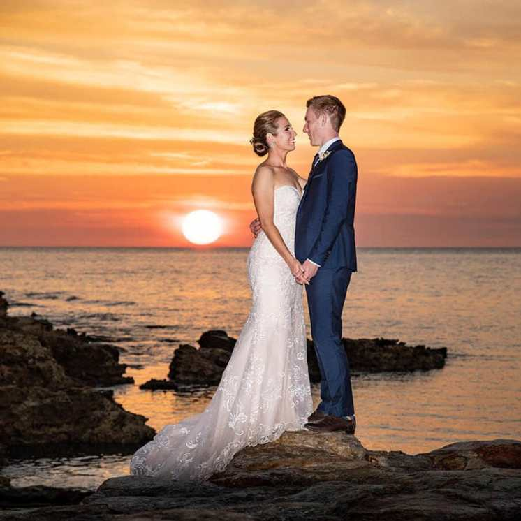 Darwin wedding sunset