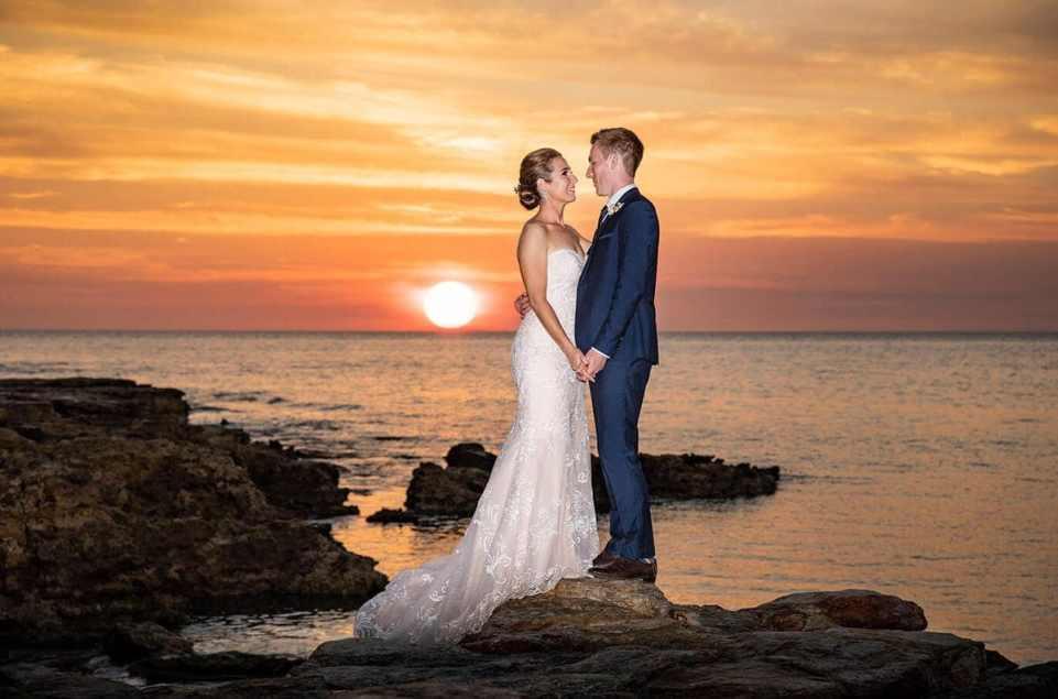 Darwin wedding sunset
