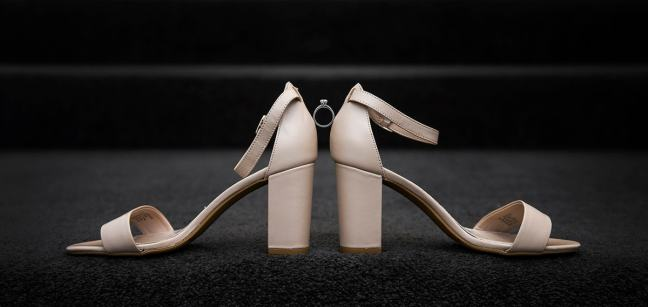 Engagement ring in shoes