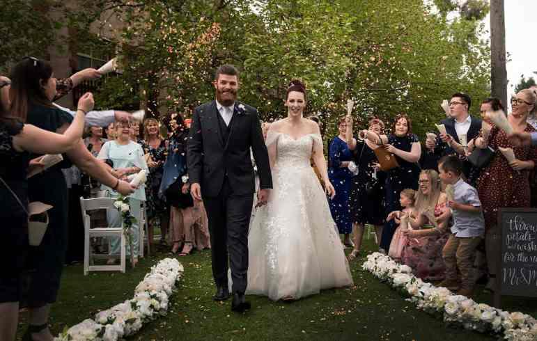 bridal exit at st francis winery