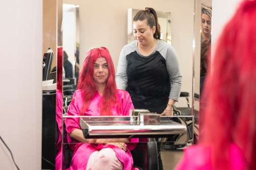 Bride at the salon