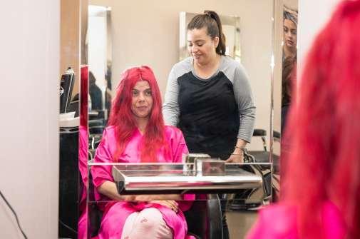 Bride at the salon