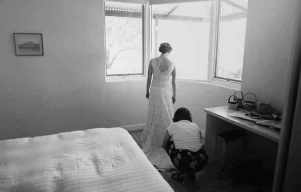 Bride getting ready in Arkapena station