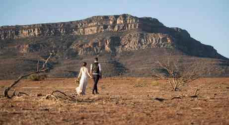walking toward wilpena pound