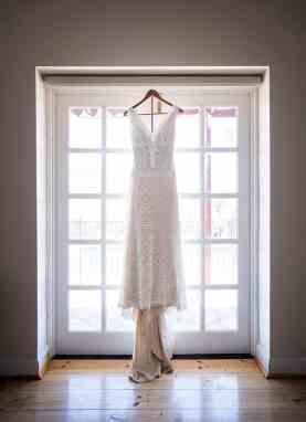Wedding dress hanging in Arkapena Station
