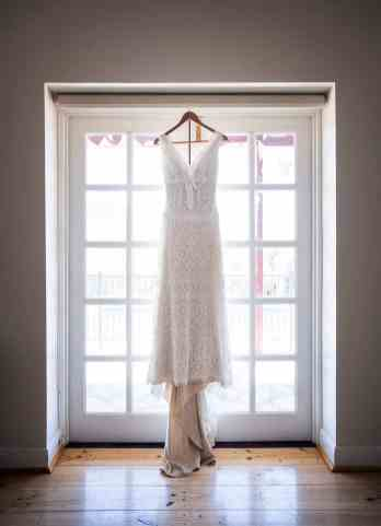 Wedding dress hanging in Arkapena Station