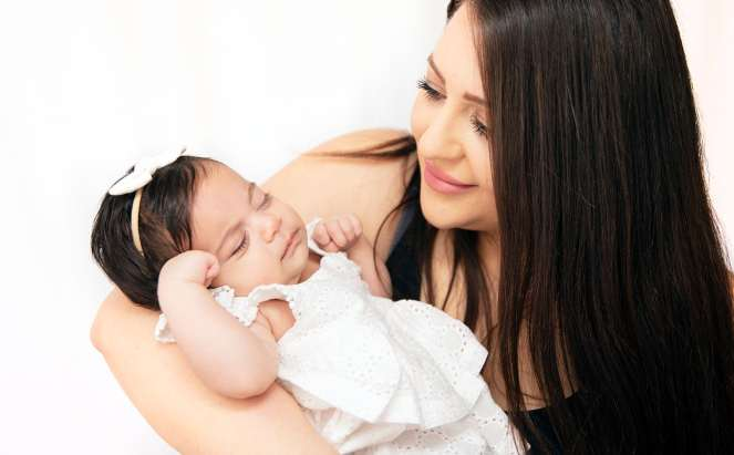 baby with mummy
