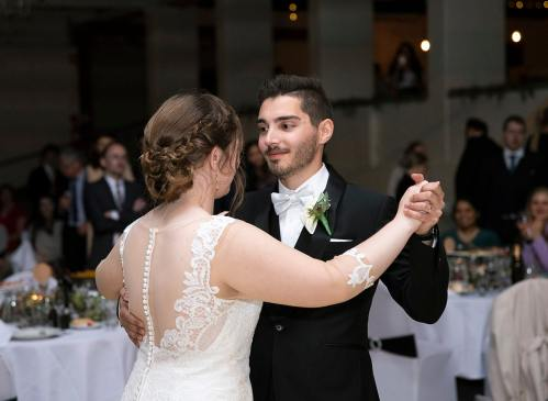 holding one another during first dance