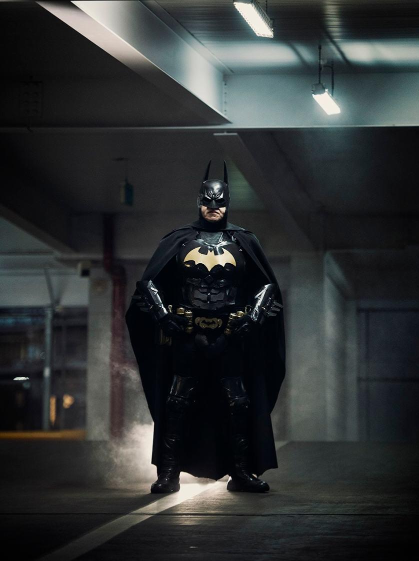 Batman standing menacingly