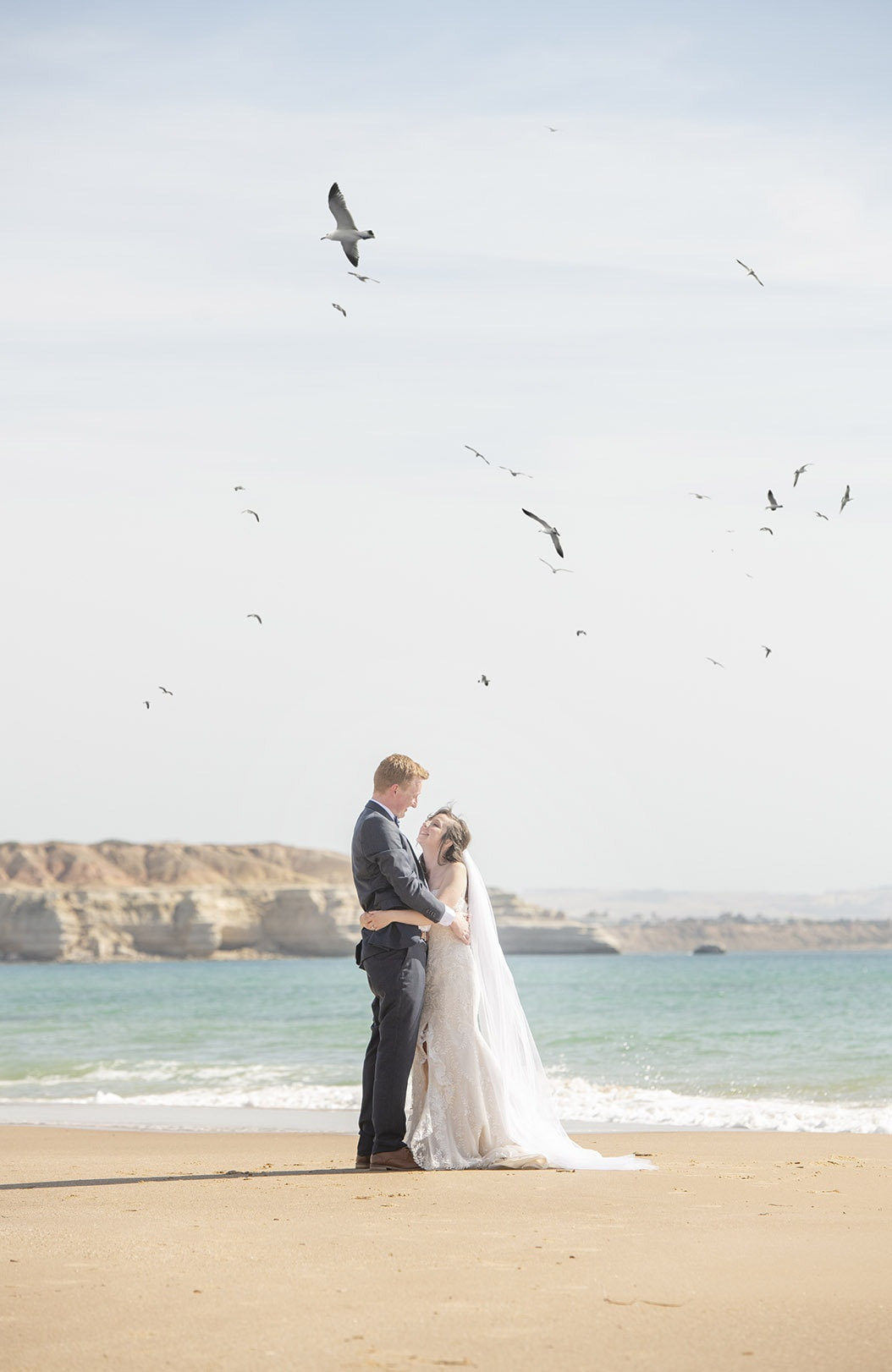 Bride and Groom on Maslin beach