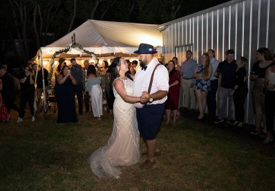 First dance in the Surprise Backyard wedding