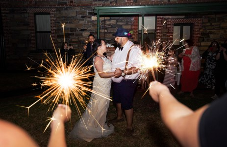 First dance with sparklers