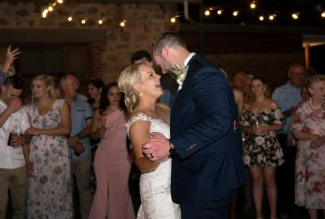 having fun during first dance