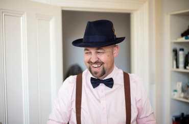 Smiling groomsman