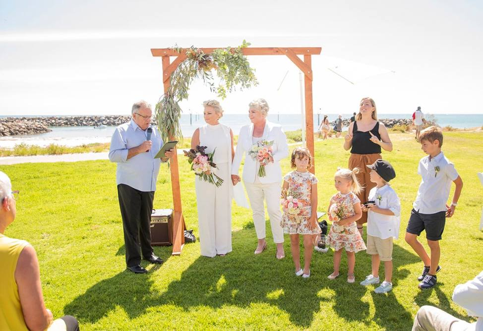 Adelaide Sailing Club Wedding Ceremony