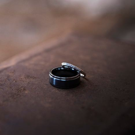 Wedding rings on top of one another