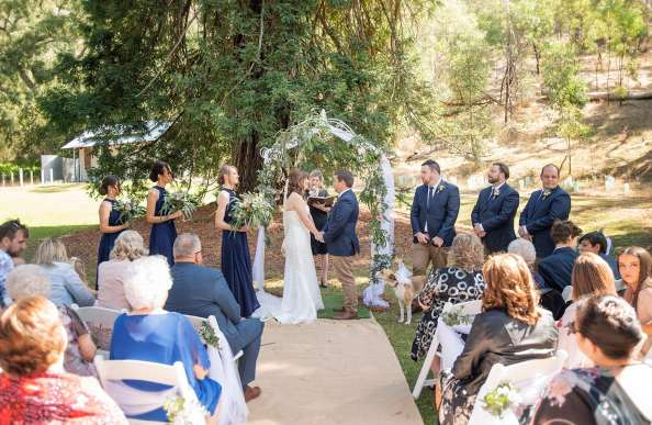 Belair National Park wedding in shade