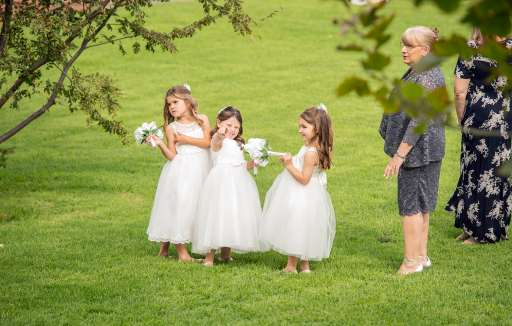 Flower girls ready to go