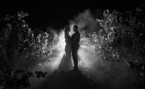 Paxton Winery wedding at night