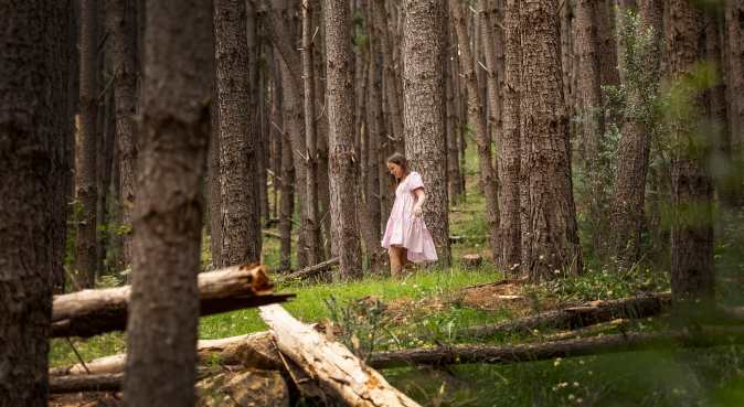 Girl walking through Kuitpo Forest