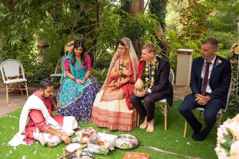 Hindu Wedding Ceremony at The Manor Basket Range