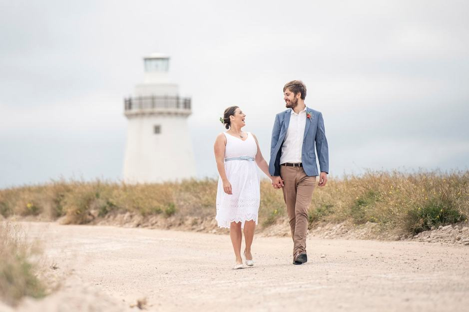 Wedding photo at Cape Willoughby Lighthouse