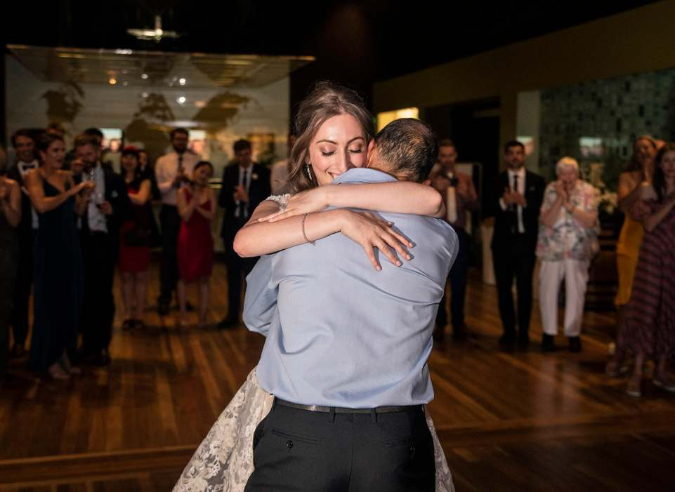 Hugs after Daddy daughter dance