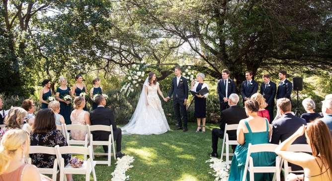 National Wine Center wedding ceremony