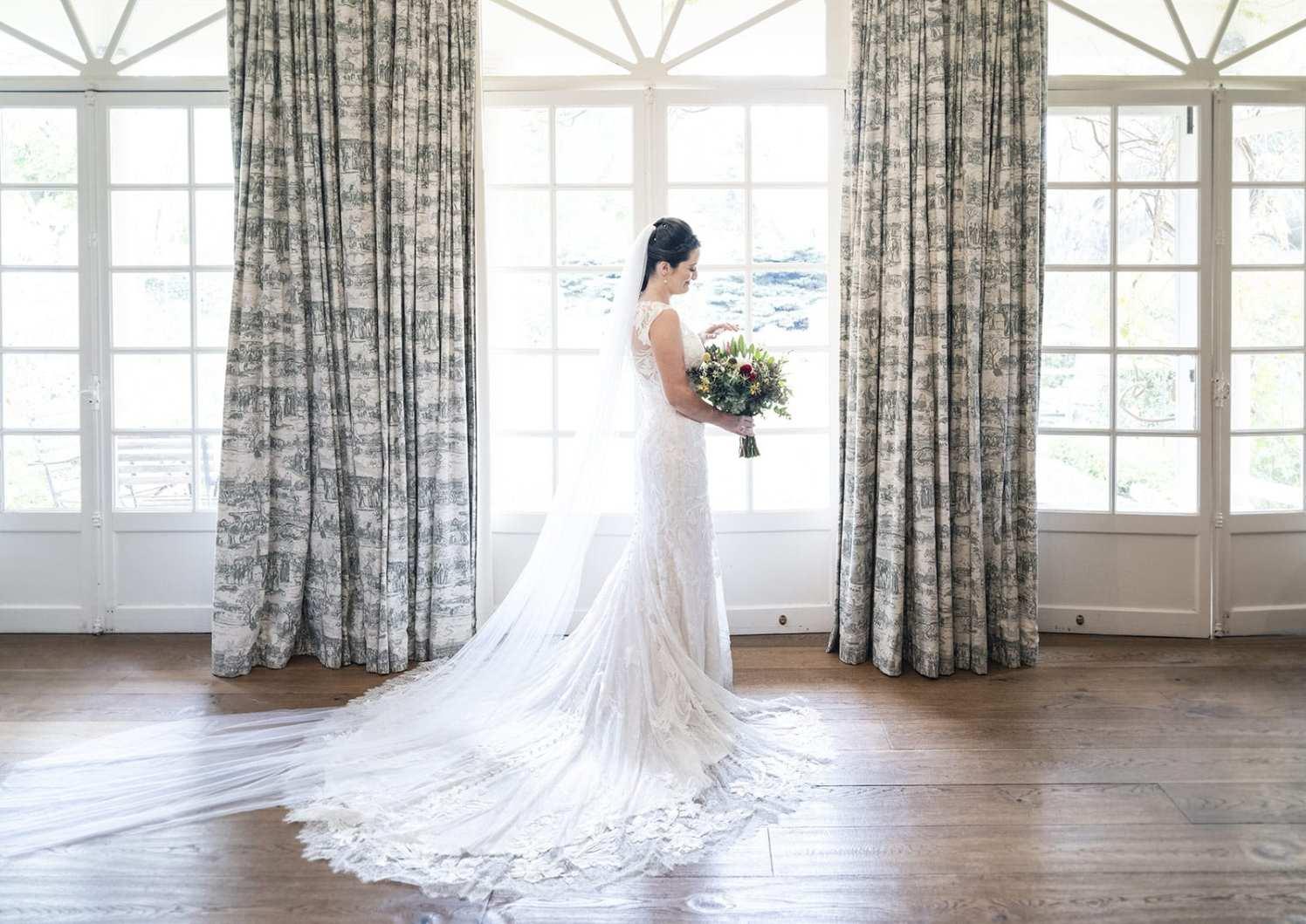 Alru Farm wedding bride