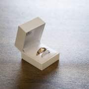 Wedding rings in white box