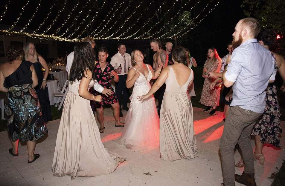 Bride dancing on the dancefloor
