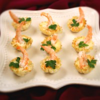 Tart Shells With Shrimps