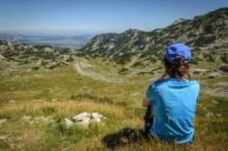 Tijana looking over Gornja Alisnica Valley