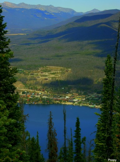 View of Grand Lake from Shadow Mountain