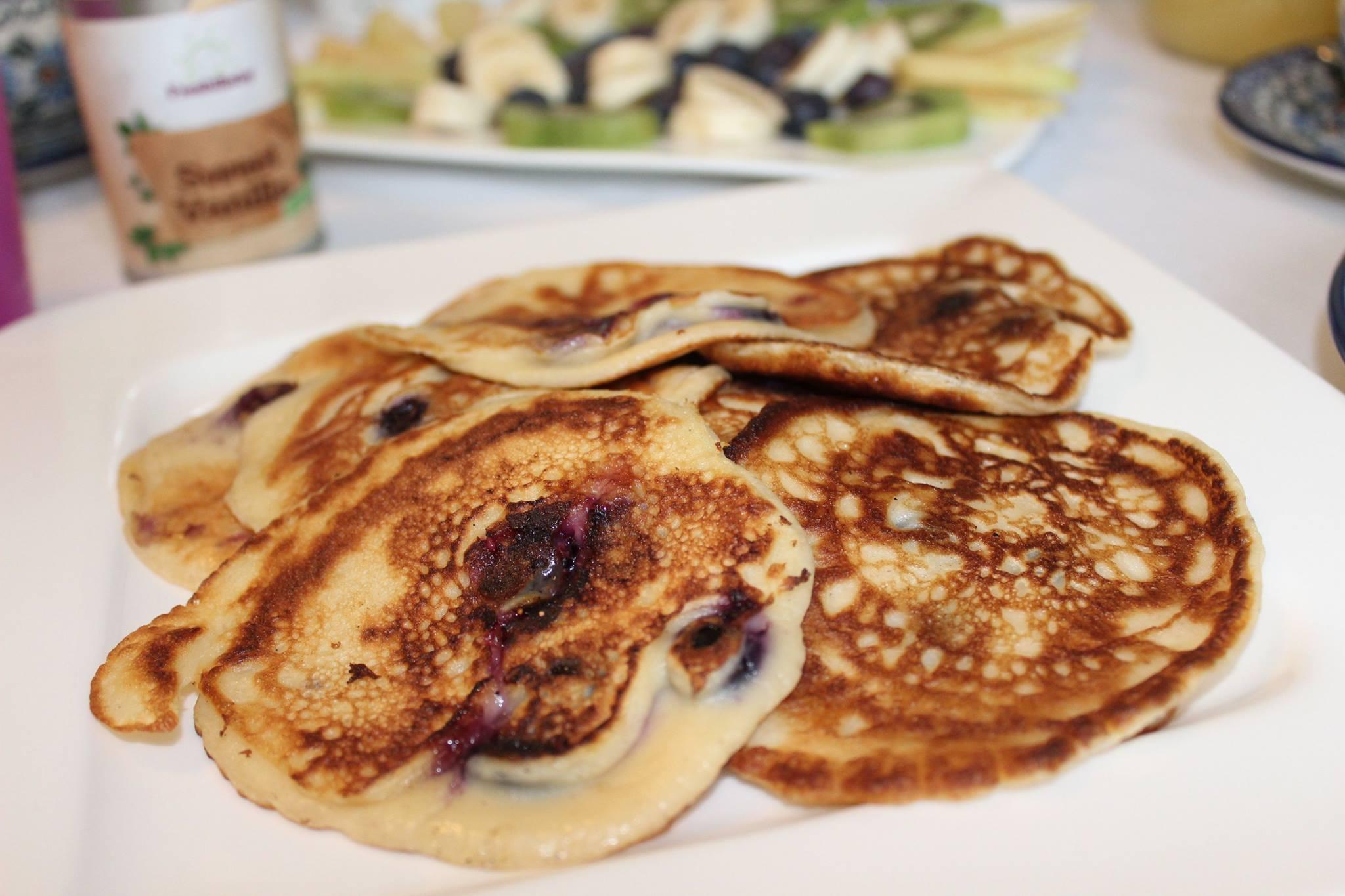 Heidelbeer-Joghurt Pancakes