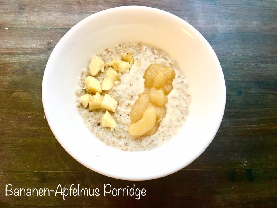 Bananen-Apfelmus Porridge