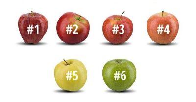Изберете ябълката, която бихте изяли и разберете за себе си нещо интересно