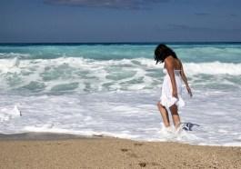 žena u moře
